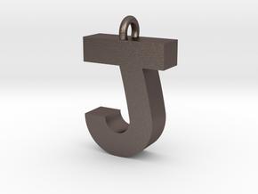 Alphabet (J) in Polished Bronzed Silver Steel