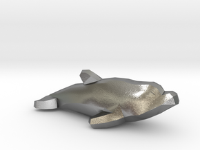 Dolphin in Natural Silver