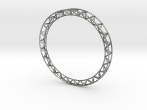 Intricate Framework Bracelet in Natural Silver