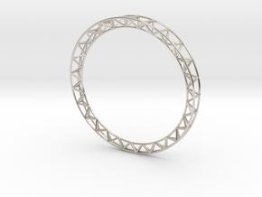Intricate Framework Bracelet in Rhodium Plated Brass