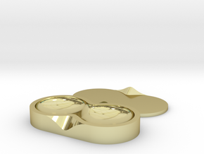 Contact Lens Seed Pod in 18k Gold Plated Brass