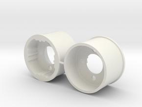 Serpent S240 Rear Rim 14 mm width in White Natural Versatile Plastic
