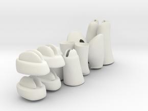 Pony Legs  in White Natural Versatile Plastic