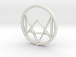 Watchdogs Logo in White Natural Versatile Plastic