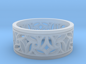 Gothic Pinwheel Tracery Ring (Open) in Smoothest Fine Detail Plastic