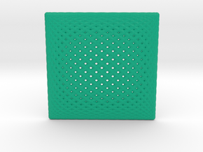 0192 Lissajous Figure Plate (10cm) #001 in Full Color Sandstone