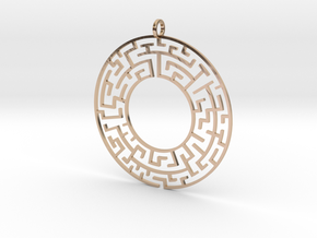Maze in 14k Rose Gold Plated Brass