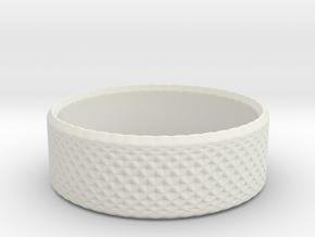 0198 Lissajous Figure Ring (Size2, 13.2mm) #009 in White Natural Versatile Plastic