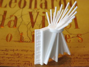 Da Vinci's Accordion  in White Strong & Flexible