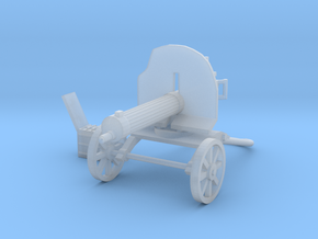 1/24 Maxim 1910 machine gun in Smooth Fine Detail Plastic