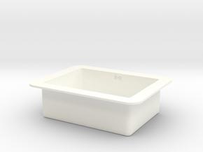 Kitchen Sink in 1:12, 1:24 in White Processed Versatile Plastic: 1:12