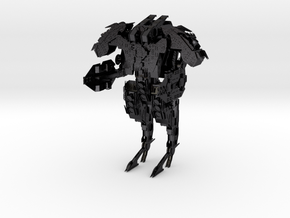 Steampunk Battle Droid Armored in Polished and Bronzed Black Steel