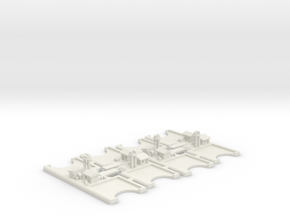 Port tokens - V3 (4 pcs) - Merchants and Marauders in White Strong & Flexible