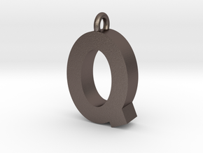 Alphabet (Q) in Polished Bronzed Silver Steel