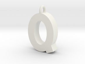 Alphabet (Q) in White Natural Versatile Plastic