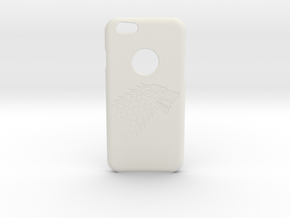 Iphone 6 Wolf case in White Natural Versatile Plastic