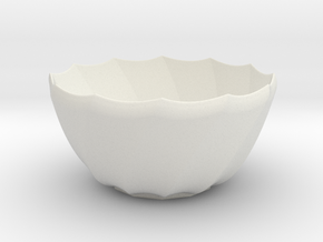 0200 Pieces of Porcelain (d=10cm,h=5cm) #002 in White Natural Versatile Plastic
