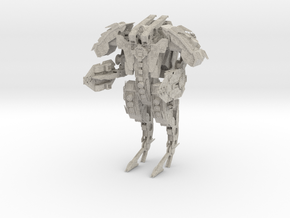 Steampunk Battle Droid Armored in Natural Sandstone