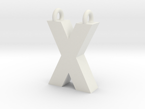 Alphabet (X) in White Natural Versatile Plastic