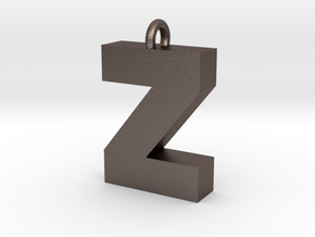 Alphabet (Z) in Polished Bronzed Silver Steel