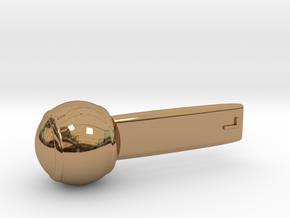 Lollipop in Polished Brass