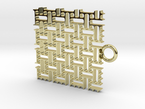 Stitch Pattern in 18k Gold Plated Brass