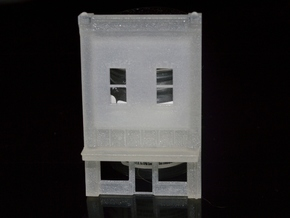 N-Scale Coffee House Facade in Smooth Fine Detail Plastic
