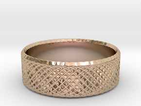 0203 Lissajous Figure Ring (Size2.5, 13.6mm) #010 in 14k Rose Gold Plated Brass