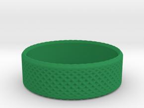 0204 Lissajous Figure Ring (Size3, 14.0mm) #011 in Green Processed Versatile Plastic