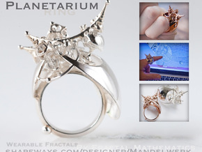 Planetarium Ring - 22mm in Polished Silver