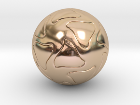Star Sphere  in 14k Rose Gold Plated Brass