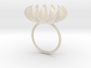 opening bloom ring in White Acrylic