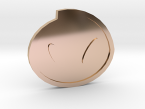 Fog Badge - Johto Pokemon Bagdes in 14k Rose Gold Plated Brass