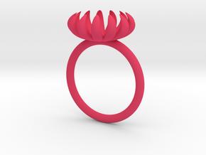 Opening Smaller Bloom ring in Pink Processed Versatile Plastic