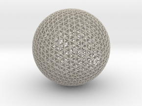 Space Frame Sphere Small in Sandstone