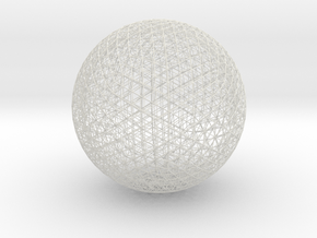 Space Frame Geodesic Sphere in White Strong & Flexible