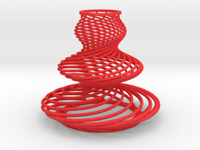 Waved Serpentines in Red Processed Versatile Plastic
