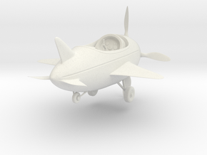 Cartoon Plane (Small) in White Strong & Flexible