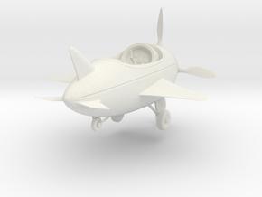 Cartoon Plane (Small) in White Natural Versatile Plastic