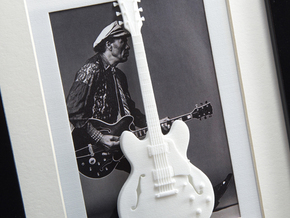 Gibson ES 335 guitar for photo frame in White Strong & Flexible Polished