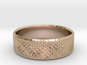 0205 Lissajous Figure Ring (Size3.5, 14.4mm) #012 in 14k Rose Gold Plated Brass