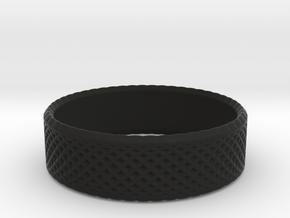 0208 Lissajous Figure Ring (Size4.5, 15.2mm) #014 in Black Natural Versatile Plastic