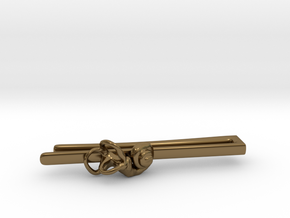 Anatomical Tie Clip with (Right) Cochlea in Polished Bronze