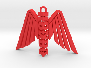 Honda Wing Statuette Pendant in Red Strong & Flexible Polished