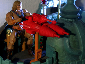 Castle Grayskull Prototype Cannon Stand (Comic) in Orange Processed Versatile Plastic