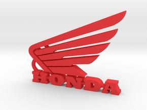 Honda Keychain Pendant  in Red Processed Versatile Plastic