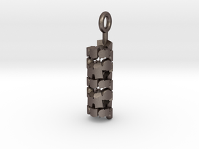 Column in Polished Bronzed Silver Steel