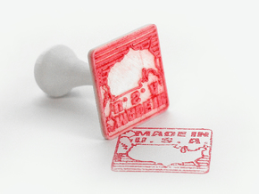 Made In USA Stamp in White Natural Versatile Plastic