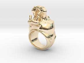 Hippopotamus ring in 14K Yellow Gold