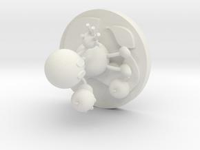 Ethylene in White Natural Versatile Plastic